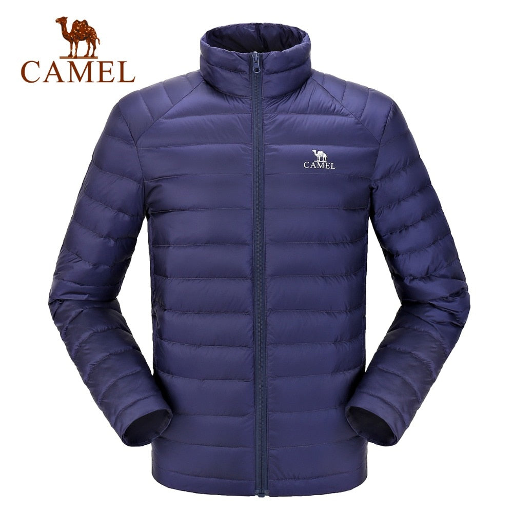 CAMEL Ultralight Down Jacket Casual Outerwear Snow Warm Fur Coat (tm1) - MARI MAR SHOP