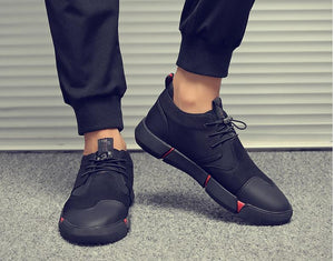 High quality all Black Men's Leather Shoes - MARI MAR SHOP