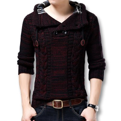 Men Winter Autumn Thick Hooded Sweaters Pullovers (tm1) - MARI MAR SHOP