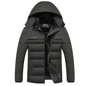Men's Thicken Warm  Parkas Hooded Coat Fleece Jackets Outwear (tm1) - MARI MAR SHOP