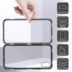 iPhone X Case, Magnetic Adsorption Case Ultra Magnet Flip Cover [Support Wireless Charging] - MARI MAR SHOP