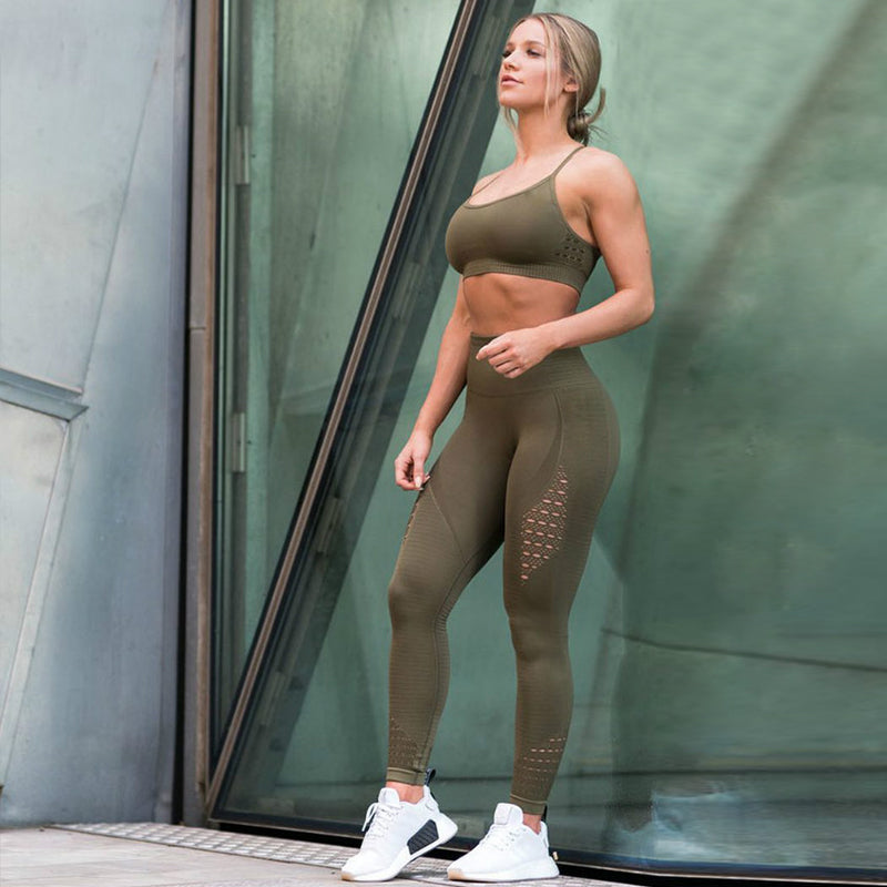 Women Hollow Leggings Push Up Fitness Leggings High Waist Workout Legging (wo1) - MARI MAR SHOP