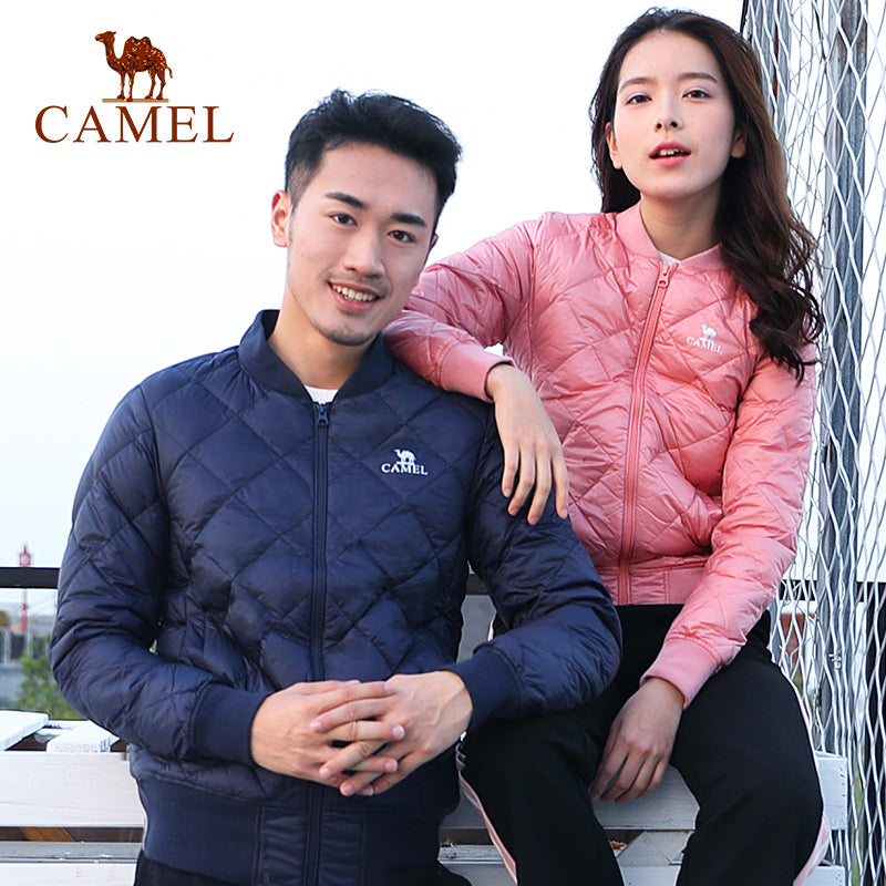 CAMEL New Men & Women Jacket Ultra Light 90% White Duck Down Jackets (wo1)(tm1) - MARI MAR SHOP