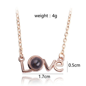 Women's Projection 100 Languages I Love You Necklace Jewelry - MARI MAR SHOP