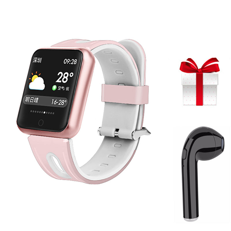 Fitness Bracelet Waterproof  Watch For Apple Watch Xiaomi  ios  Android + Earphone - MARI MAR SHOP