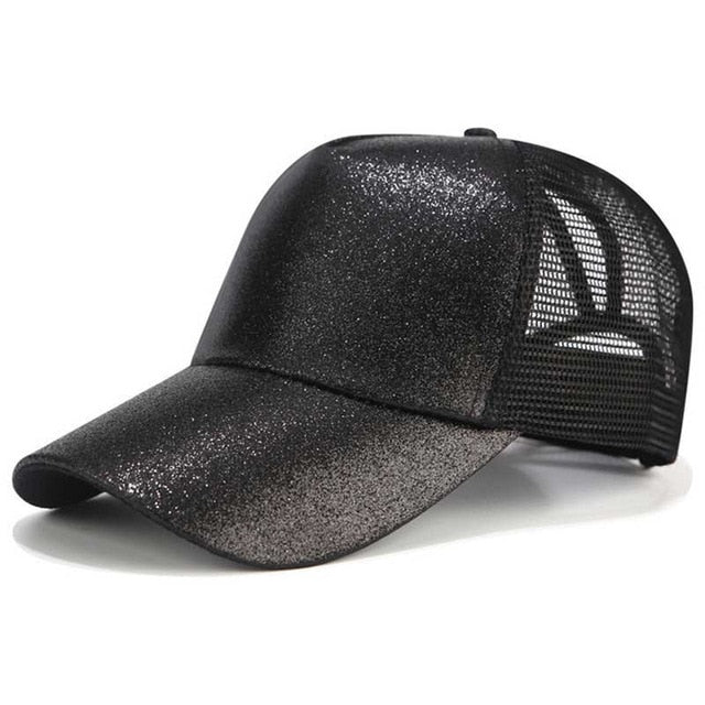 Ponytail Baseball Cap Women Adjustable Snapback Hat - MARI MAR SHOP