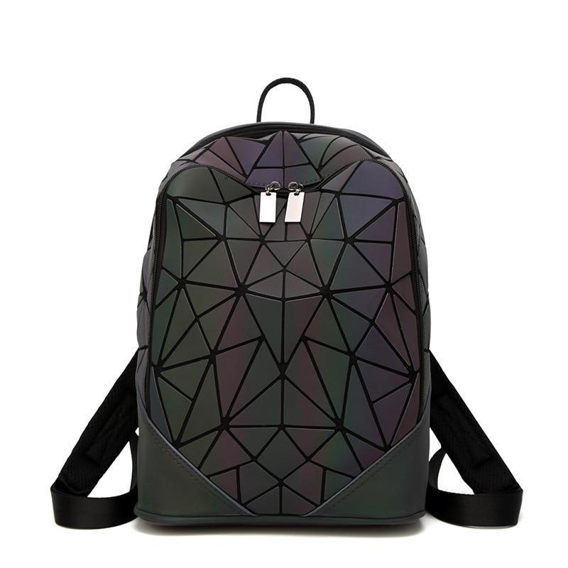 Women Bag Luminous Irregular Triangle Sequin Backpack - MARI MAR SHOP