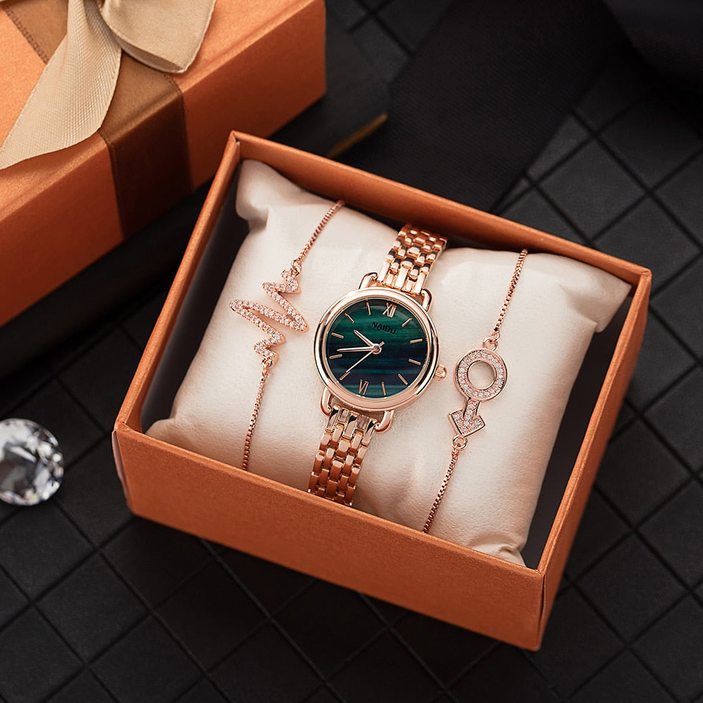 Women Dress Wrist Watches with jewelry bracelet - MARI MAR SHOP