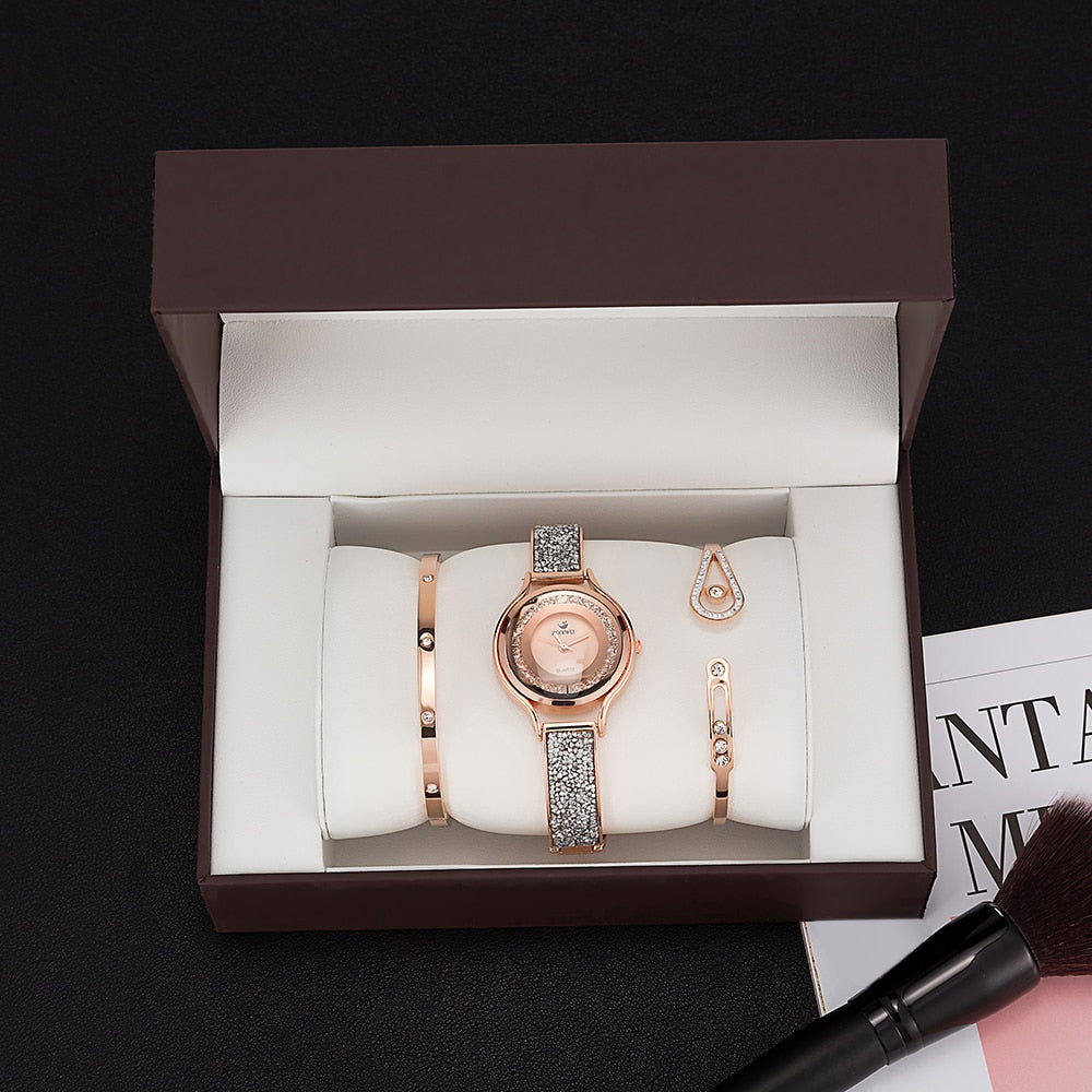 Women Bracelet Watches Set 3 Pcs - MARI MAR SHOP