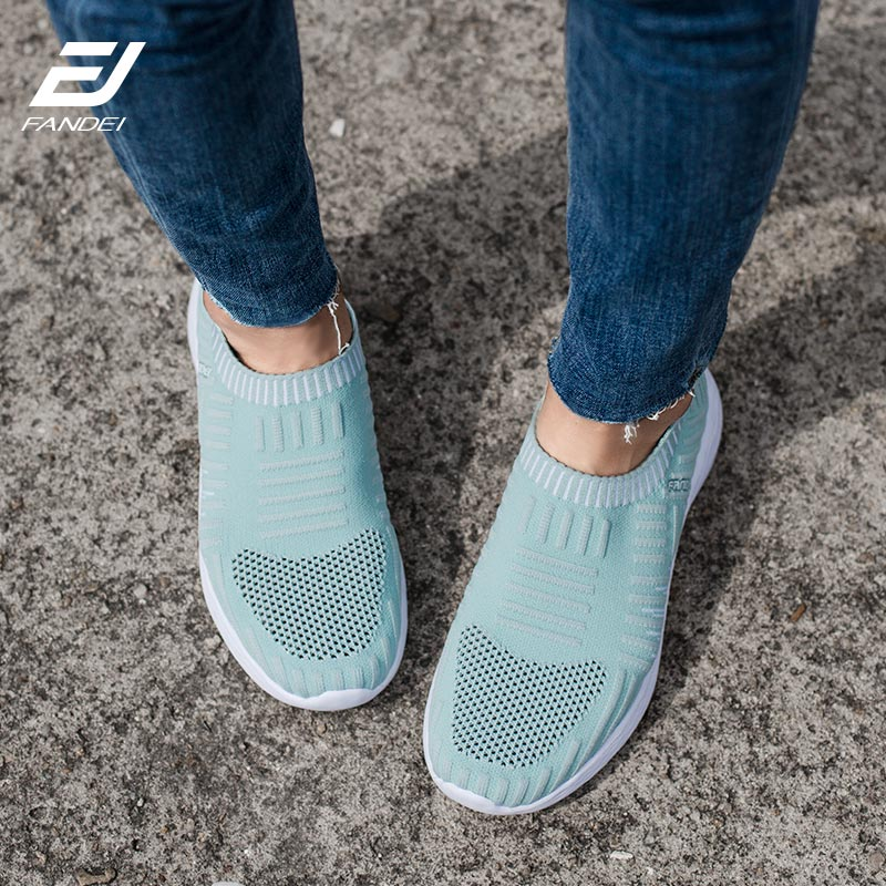 Women Sneakers Running Shoes For Women Outdoor Sports Slip-on Breathable Mesh For Comfortable Sport - MARI MAR SHOP