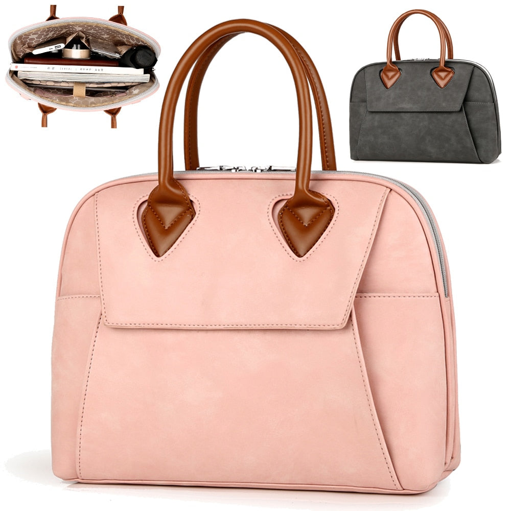Women Laptop Notebook Leather Bags Briefcase Handbags Messenger - MARI MAR SHOP