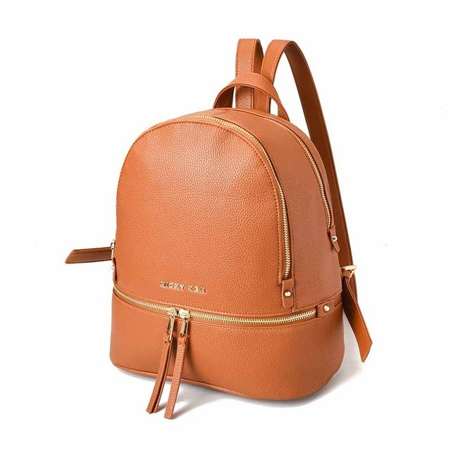 Women Luxury Fashion Backpacks PU Leather Bag