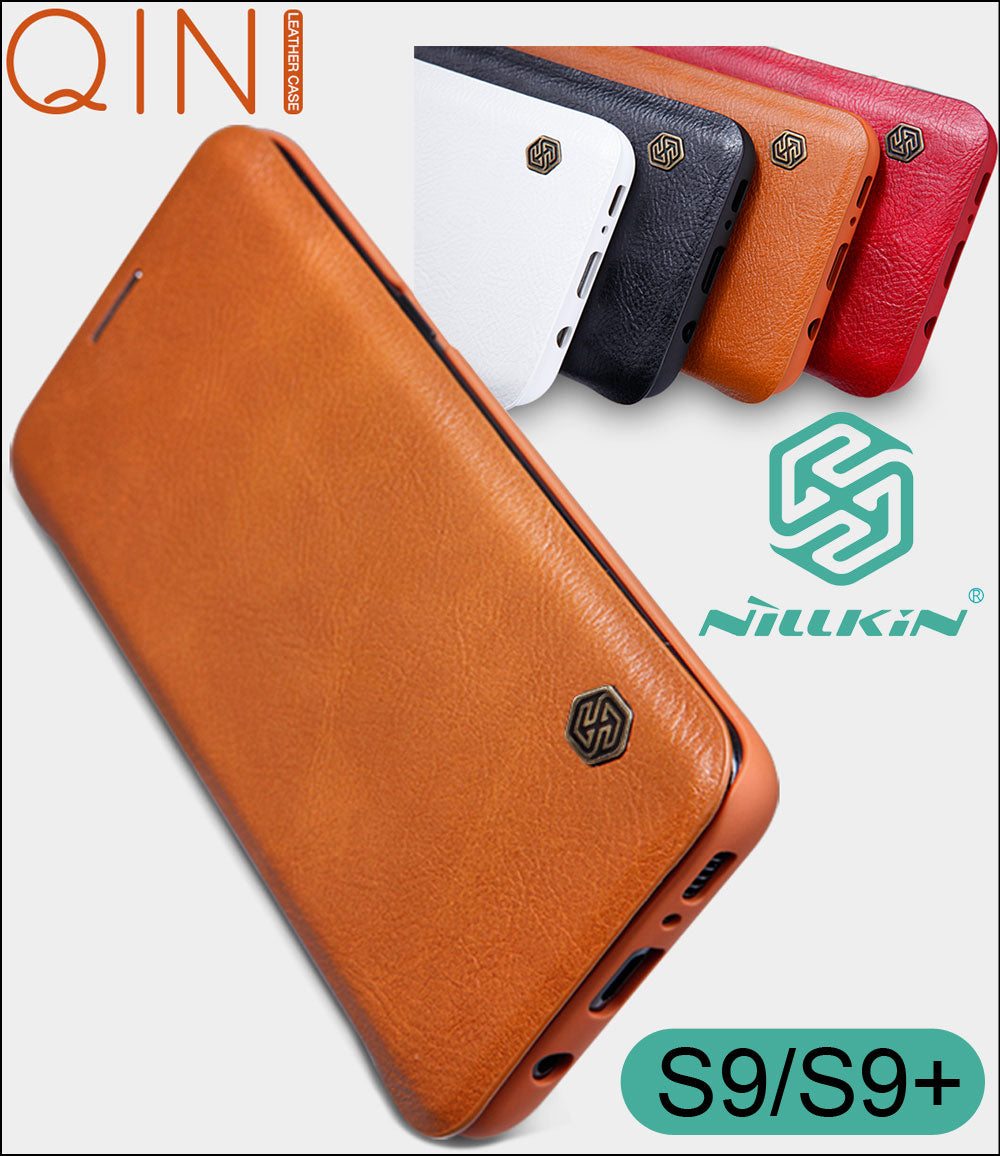 Nillkin Qin Flip Leather Case Cover For Samsung Galaxy S10 Plus S9 Plus - MARI MAR SHOP