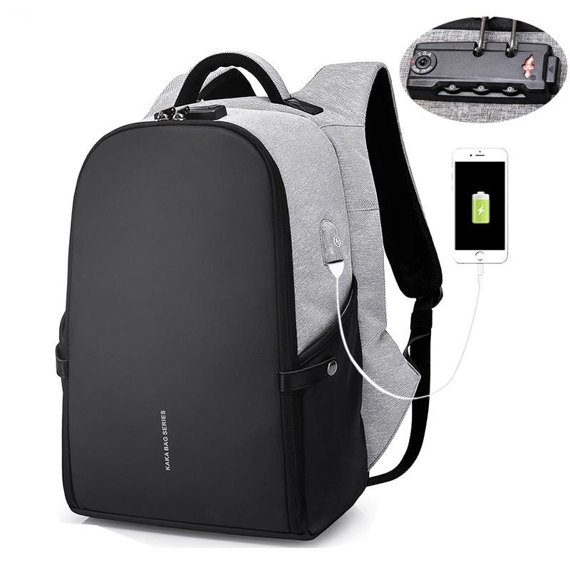"KAKA Anti theft Backpack 15.6"" Laptop Backpacks Schoolbag - MARI MAR SHOP"