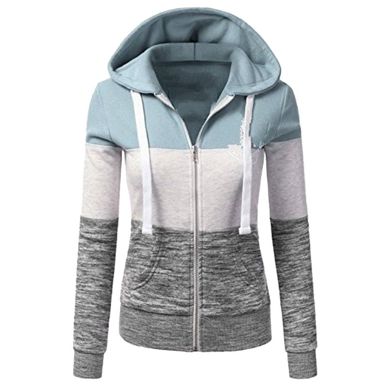 Woman Warm Hoodies Long Sleeves Drawstring Sweatshirt  (wo1) - MARI MAR SHOP