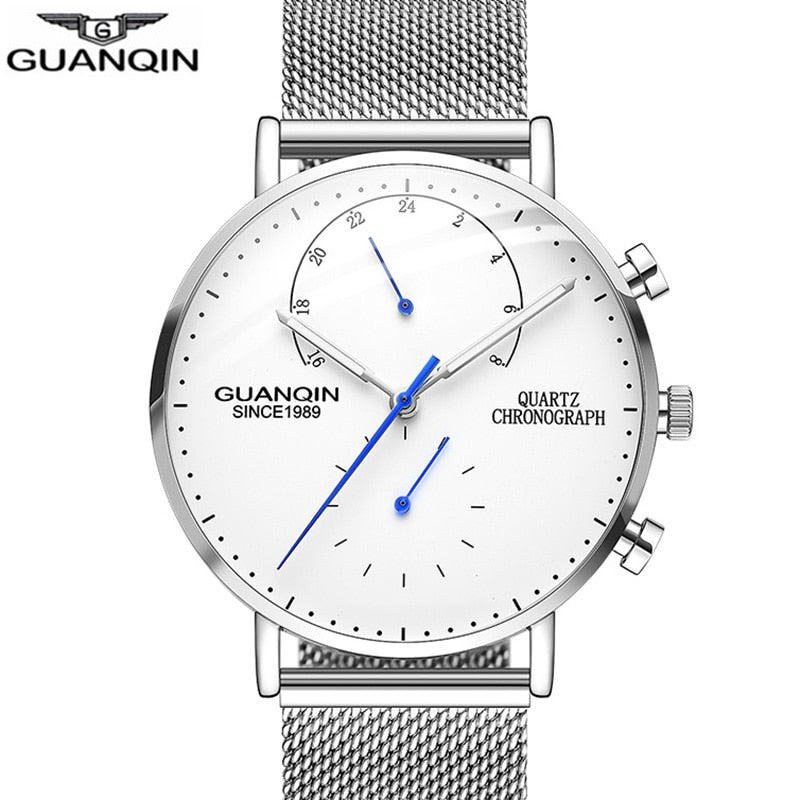 GUANQIN Mens Watches Top Brand Luxury Chronograph Clock - MARI MAR SHOP