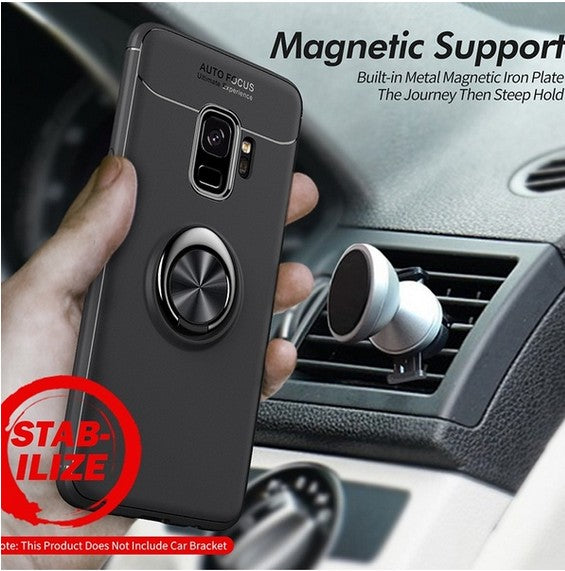 360 Rotating Finger Ring Case Magnetic Car Holder Cover for Samsung Galaxy S9/S9 Plus/S8/S8 Plus/Note 8,for iPhone Series Phone Case - MARI MAR SHOP