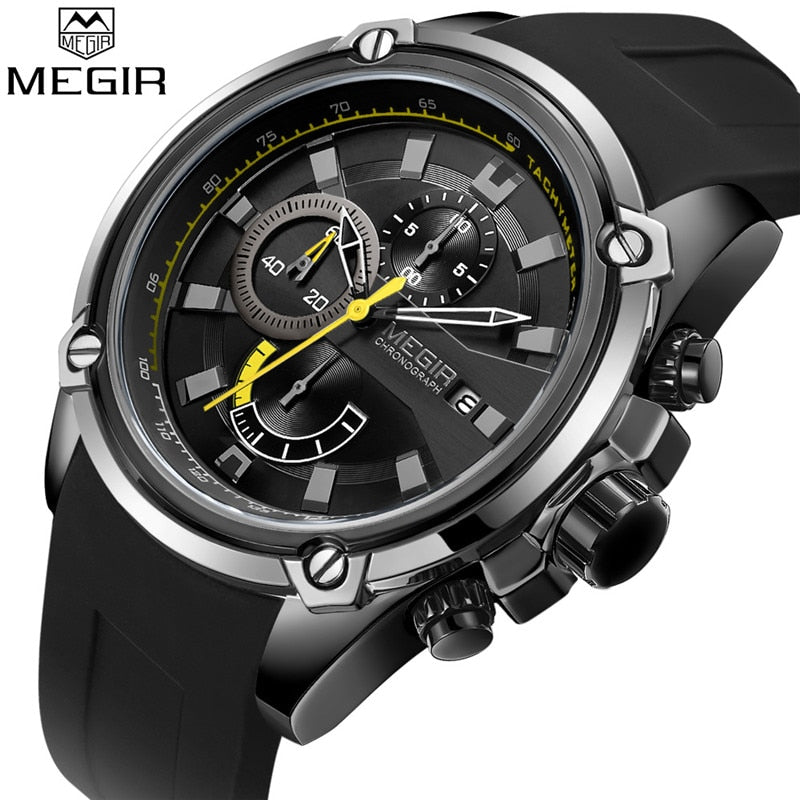 MEGIR Men Watch Top Brand Luxury Chronograph Waterproof Sport Military Army Wristwatch - MARI MAR SHOP