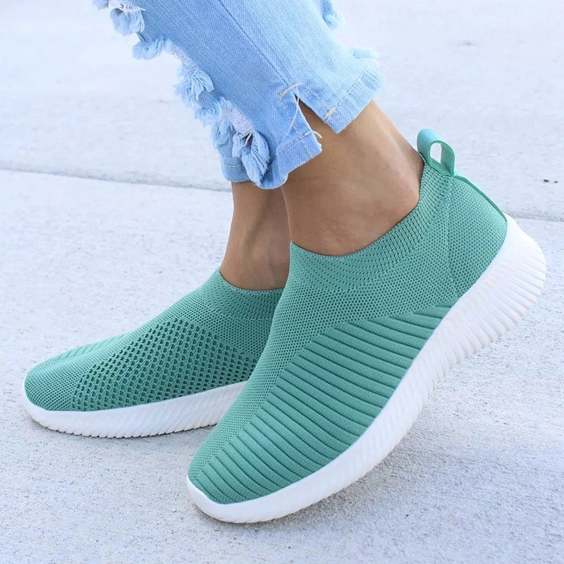 Women Shoes Knitting Sock Sneakers Flat Walking Shoes - MARI MAR SHOP