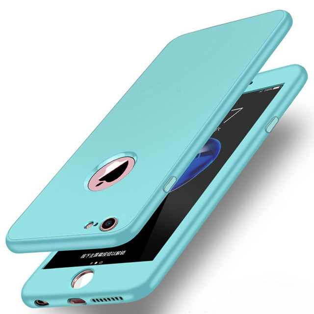 360 Full Body Case For iPhone X XS Max XR 6 6S 7 8 Plus Zipper Type Buckle Candy Color Soft Silicone Cover - MARI MAR SHOP