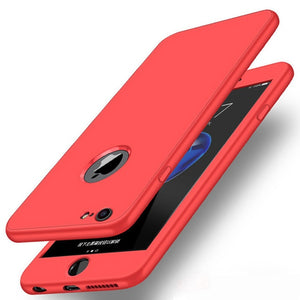 360 Full Body Case For iPhone X XS Max XR 6 6S 7 8 Plus Zipper Type Buckle Candy Color Soft Silicone Cover