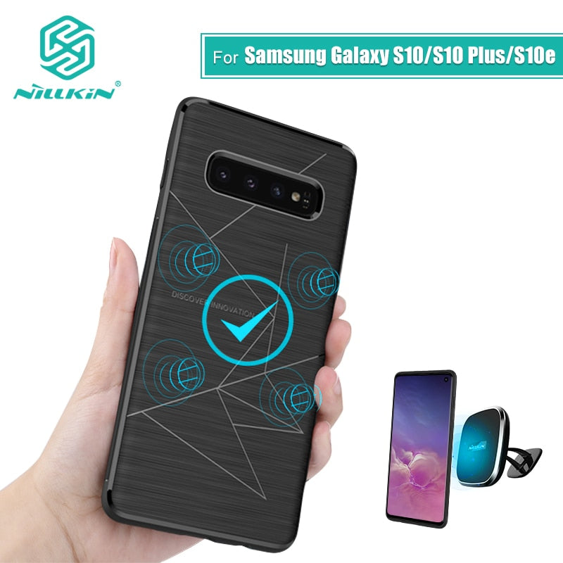 Samsung Galaxy S10 Plus S10 plus Magnetic Qi Wireless Charger Cover Case - MARI MAR SHOP