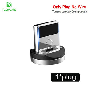 Micro USB Cable For iPhone XR XS Max X Magnet Charger USB Type C Cable LED Charging - MARI MAR SHOP