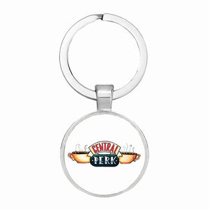 Hot TV Friends key chain Central Perk Coffee Time glass figure HOT SALE - MARI MAR SHOP