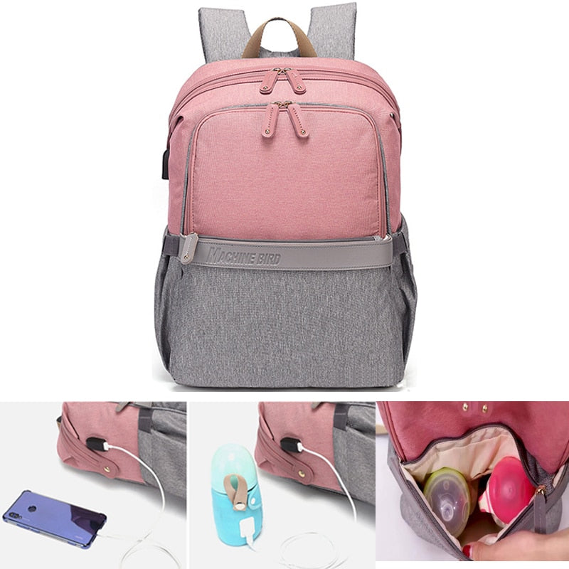 HOT SALE USB Waterproof Stroller Diaper backpack Multifunction Baby  Bag - MARI MAR SHOP