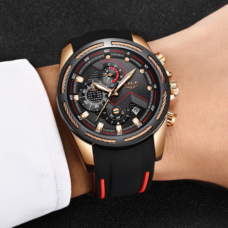 LIGE New Mens Watches Top Luxury Brand Men Unique Sports Watch - MARI MAR SHOP