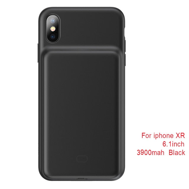 iPhone X/XS XR XS Max Battery Charger Case Power Bank Charger Case - MARI MAR SHOP