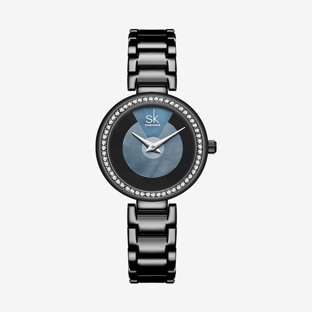 SK Quartz Watch Diamond Dial Ladies Watch - MARI MAR SHOP
