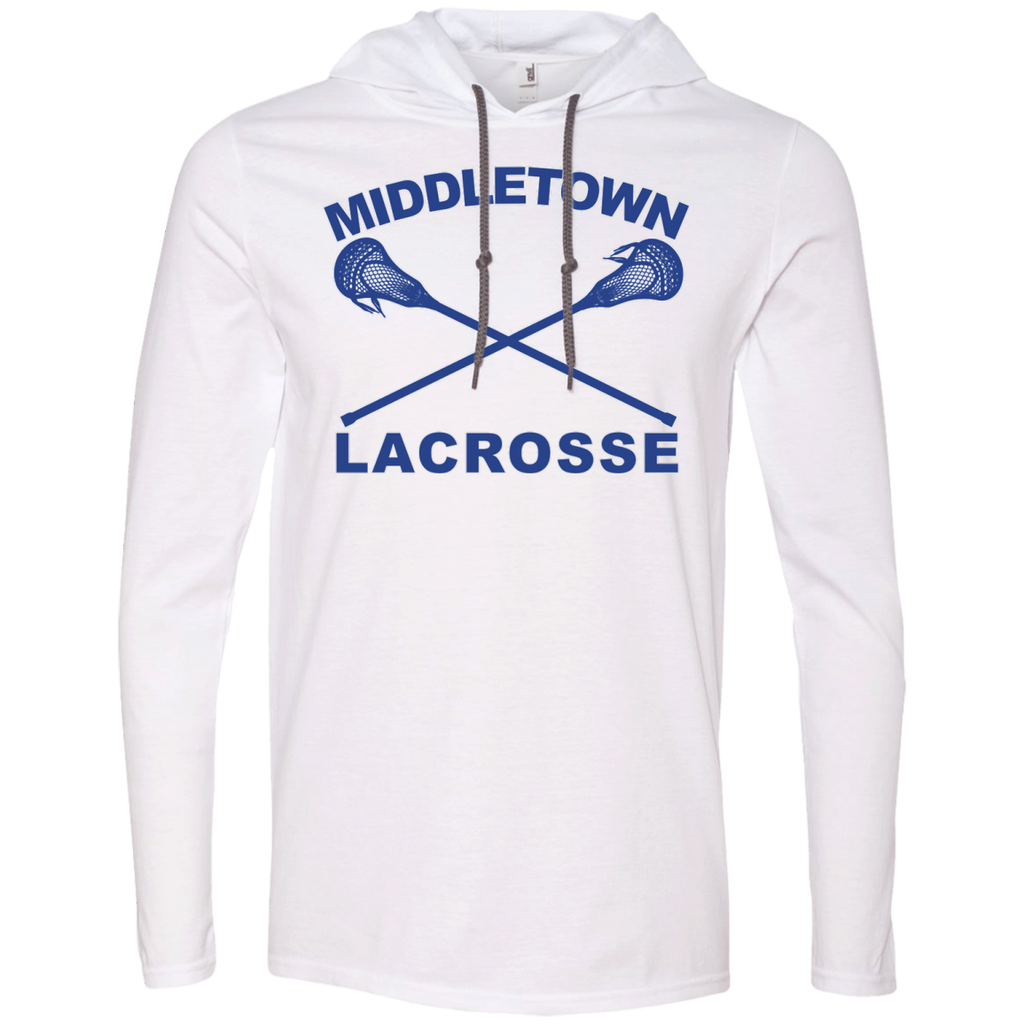 Men's T-Shirt Hoodie - Middletown Girls Lacrosse - Sticks Logo
