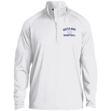 Basketball Vector Logo Outline_Pantone ST850 Sport-Tek 1/2 Zip Raglan Performance Pullover