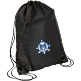 Drawstring Bag with Zippered Pocket - Middletown Baseball - Diamond Logo