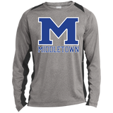 Heather Colorblock Long Sleeve T-Shirt - Middletown