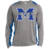 Heather Colorblock Long Sleeve T-Shirt - Middletown Middies