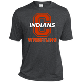 Men's Heather Moisture Wicking T-Shirt - Cambridge Wrestling - C Logo