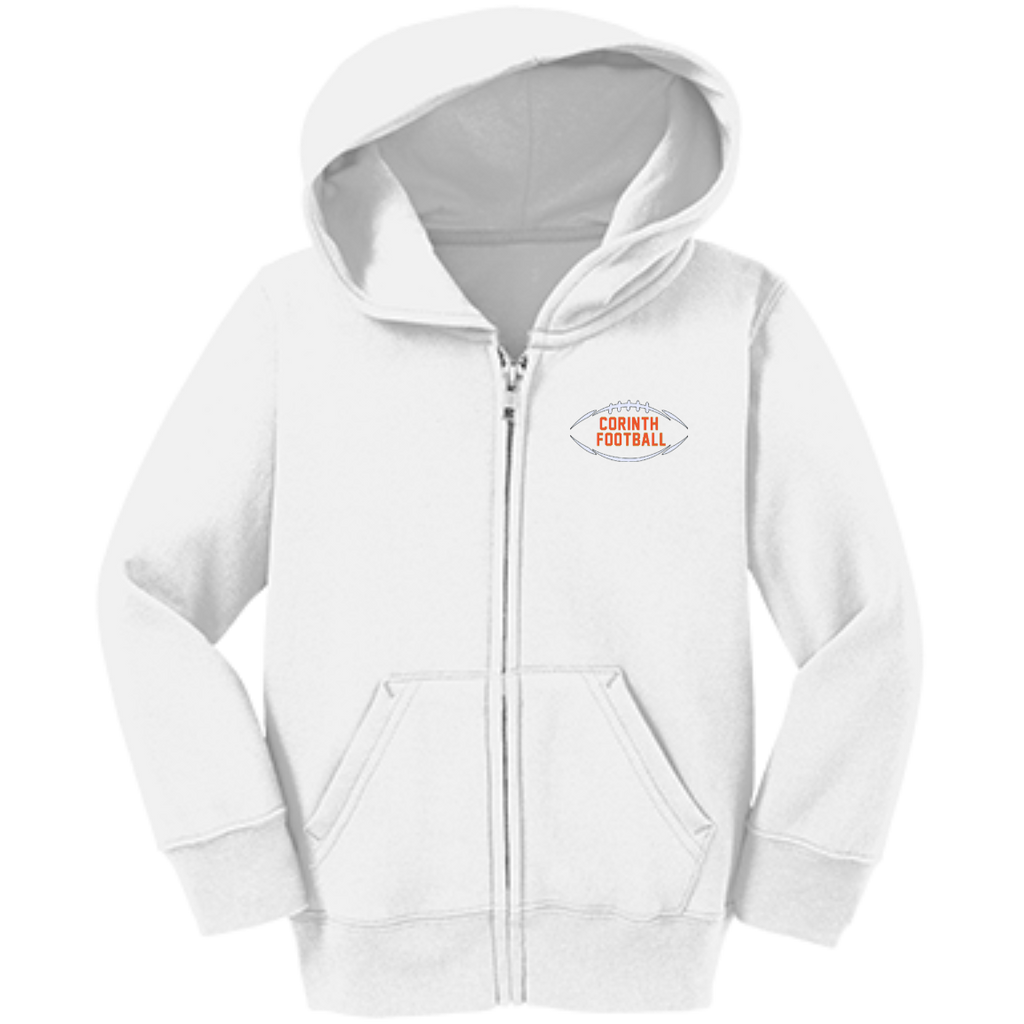 Toddler Full-Zip Hooded Sweatshirt - Corinth Football