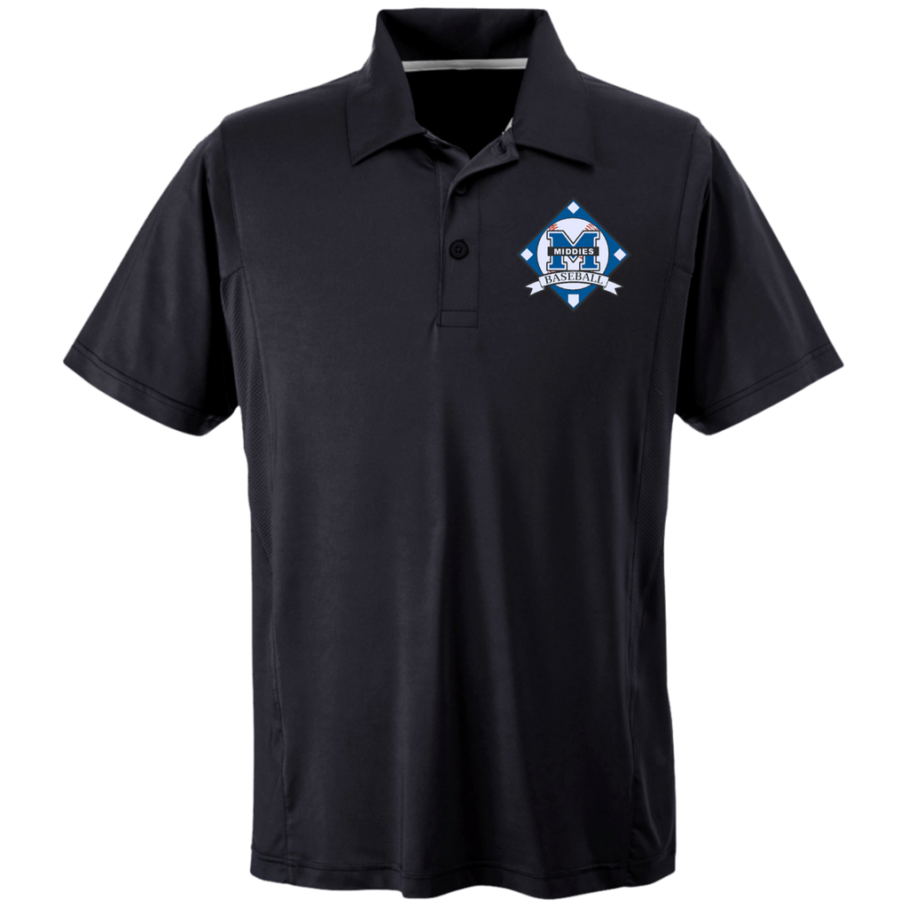 Men's Solid Moisture Wicking Polo - Middletown Baseball - Diamond Logo