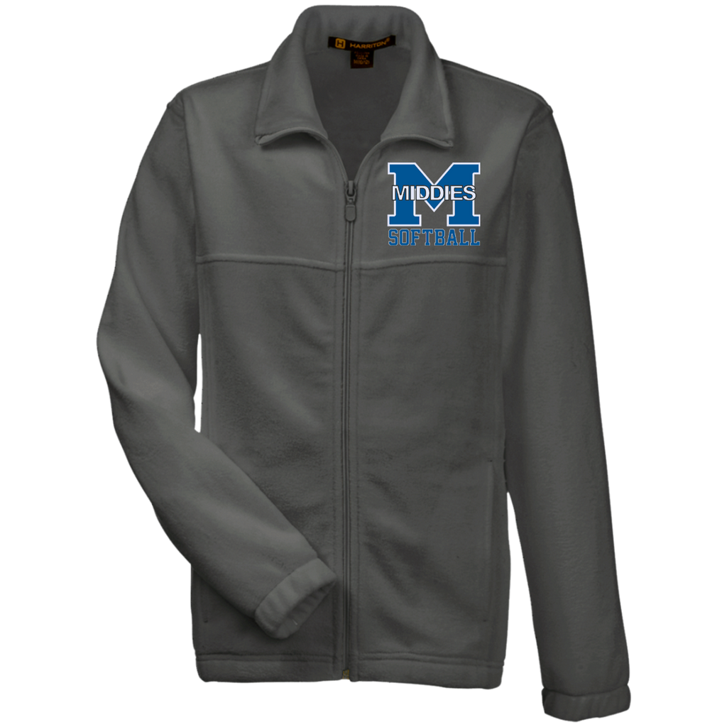 Youth Full-Zip Fleece - Middletown Softball
