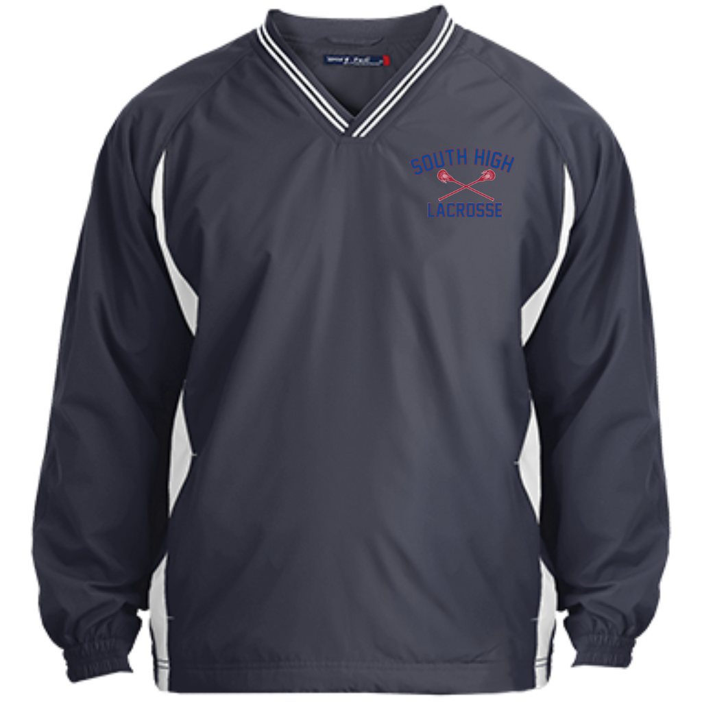 Youth Colorblock V-Neck Pullover - South Glens Falls Lacrosse