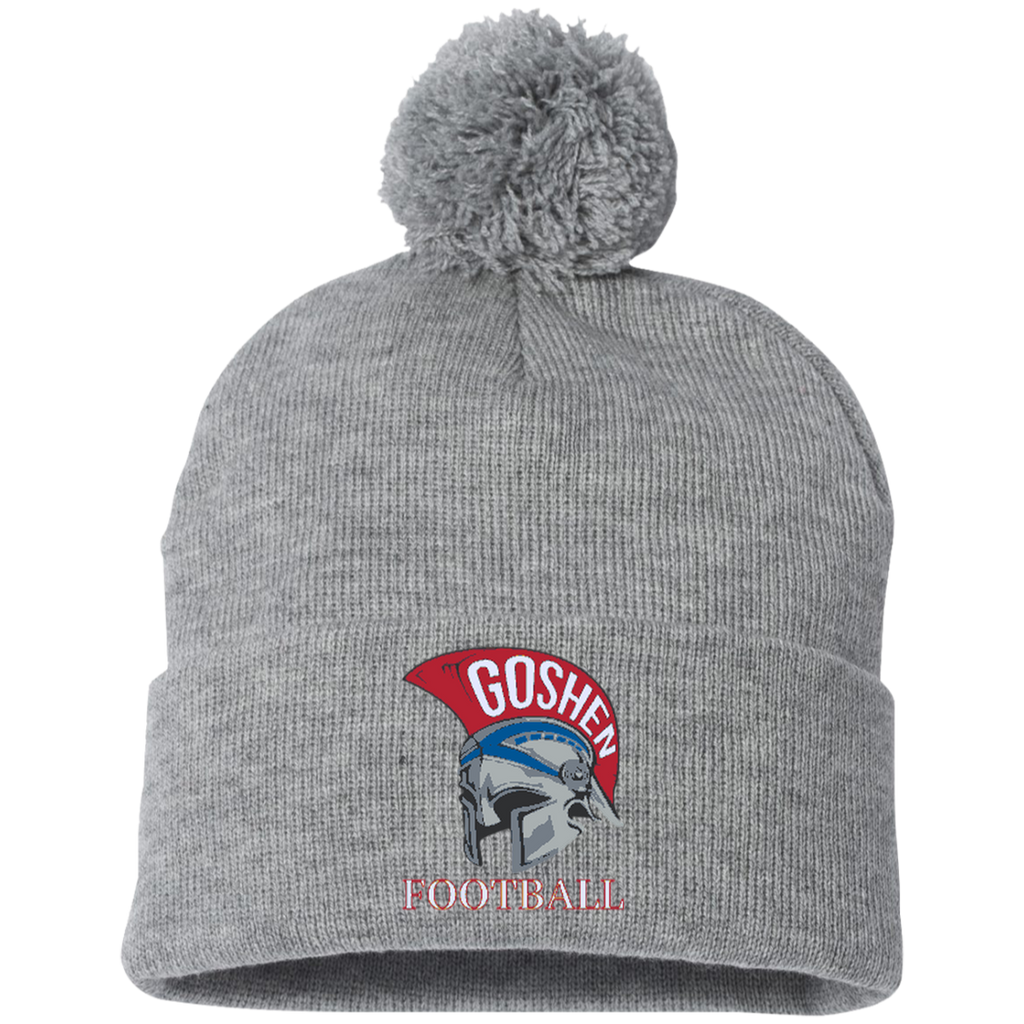 Pom Pom Knit Winter Hat - Goshen Football