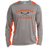 Heather Colorblock Long Sleeve T-Shirt - Cambridge Lacrosse