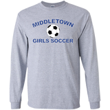 Men's Long Sleeve T-Shirt - Middletown Girls Soccer