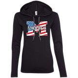 Women's T-Shirt Hoodie - Middletown American Flag
