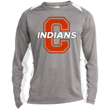 Heather Colorblock Long Sleeve T-Shirt - Cambridge Indians - C Logo