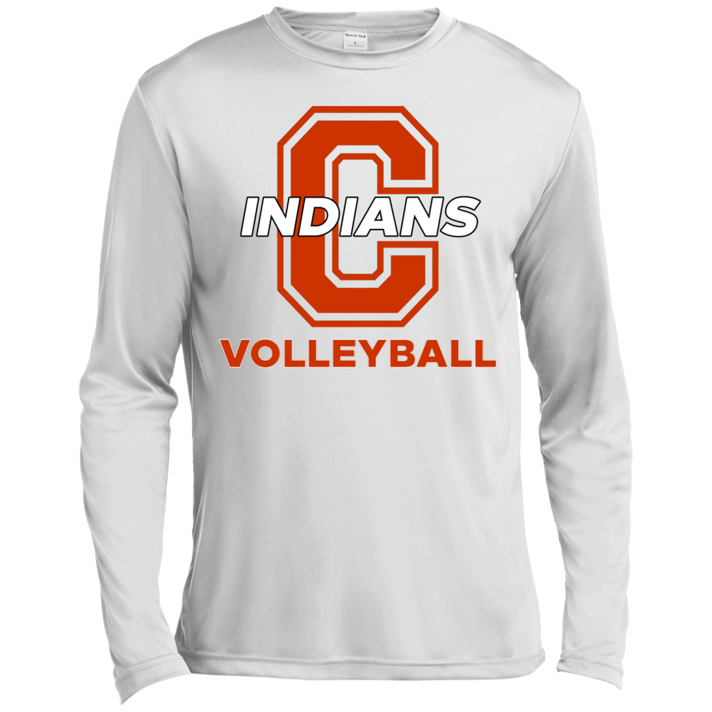 Men's Moisture Wicking Long Sleeve T-Shirt - Cambridge Volleyball - C Logo