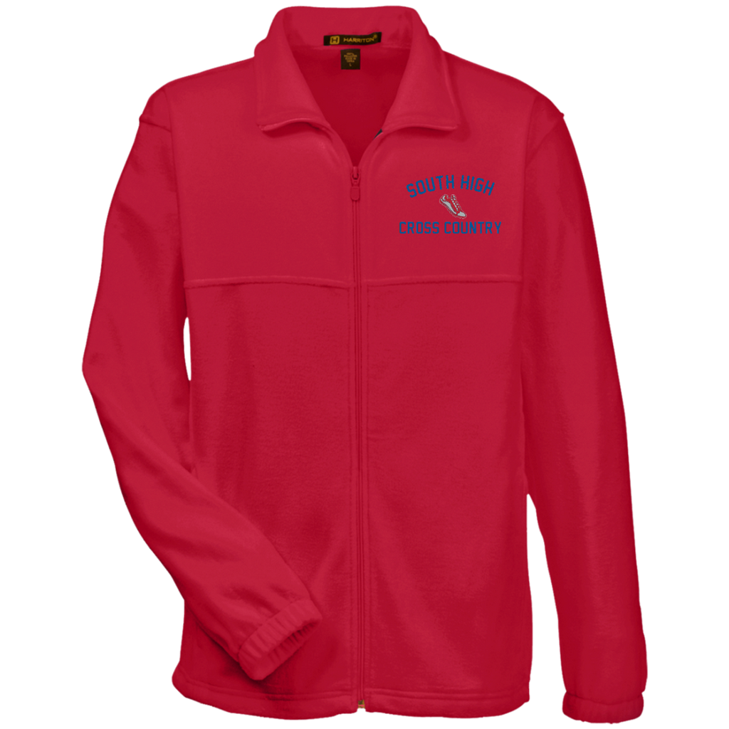X-Country Vector Logo Outline_Pantone M990 Harriton Fleece Full-Zip