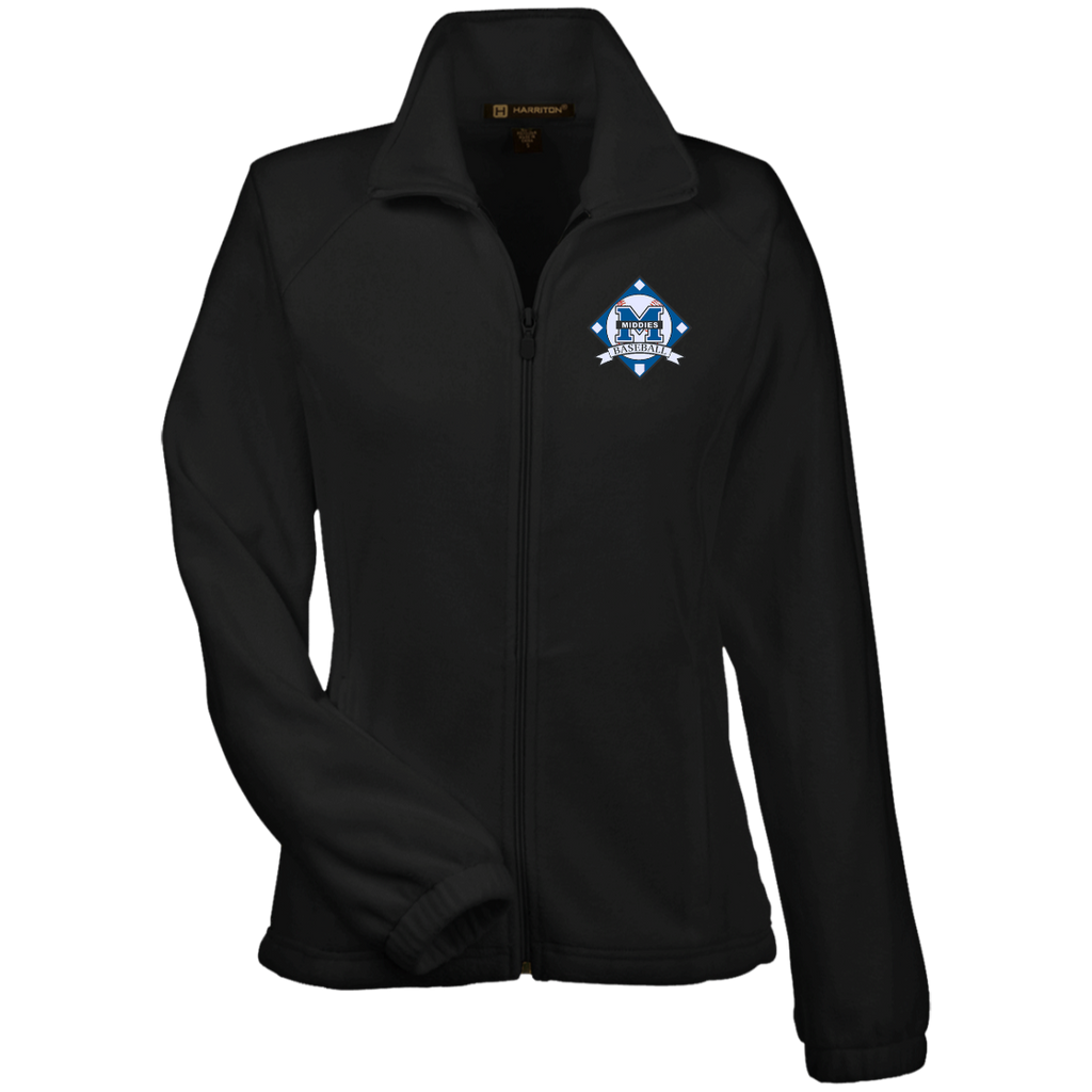 Women's Full-Zip Fleece - Middletown Baseball - Diamond Logo
